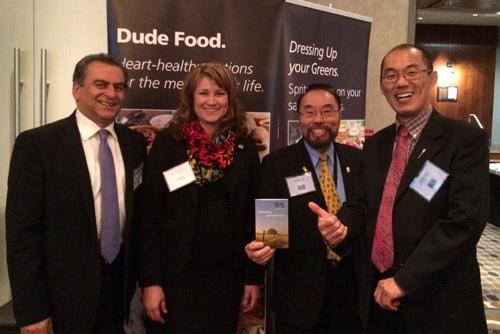 ACPC Policy Analyst Karla Bergstrom with Alberta MLA's Moe Amery, Wayne Cao and Jason Luan