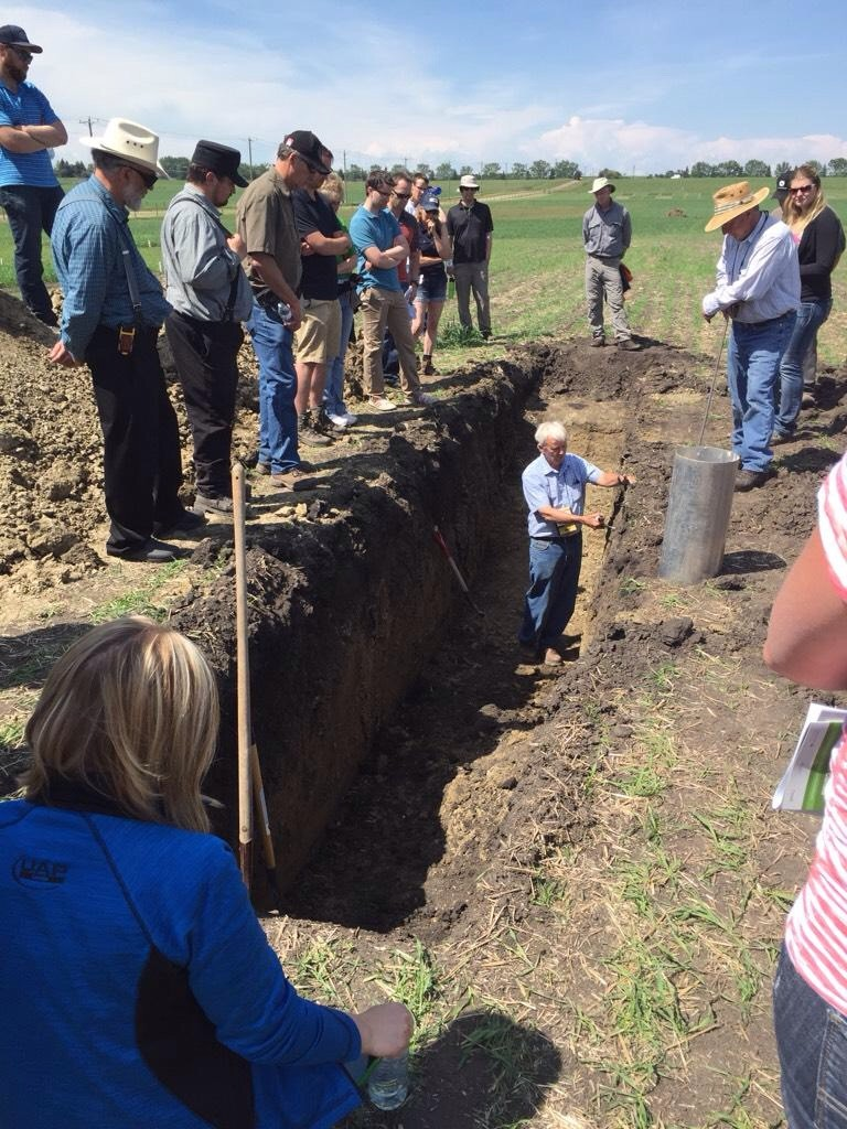 Ross McKenzie and Roger Andreiuk went to great depths to discuss soil profiles