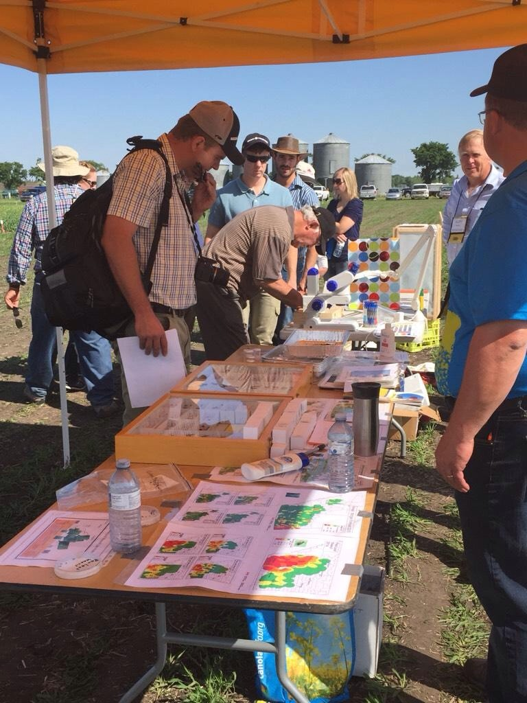 The insect station was a popular stop with Scott Meers, Julie Soroka and Keith Gabert answering bug questions.