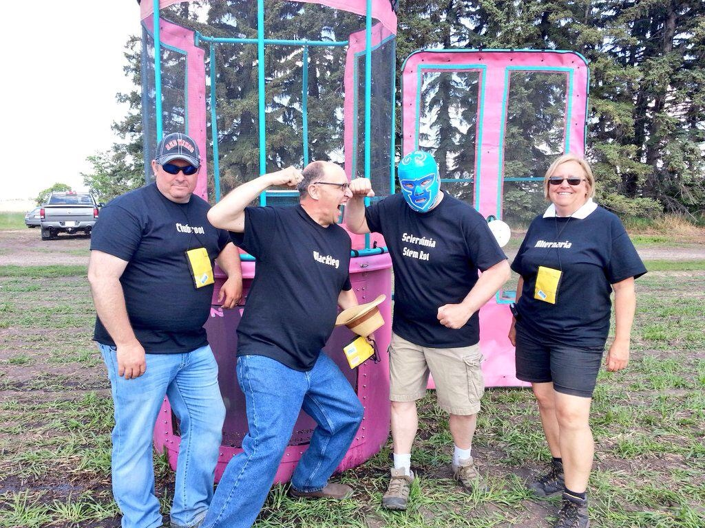 "The disease station featured the pathologists known as the ""Lesions of Doom"" and a dunk tank!"