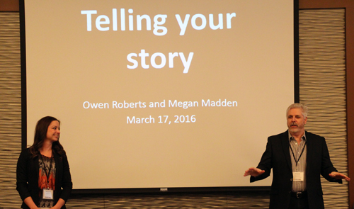 ACPC's Communications Coordinator Megan Madden joined Owen Roberts from the University of Guelph to help the Canola Leaders understand how to tell their story to the media